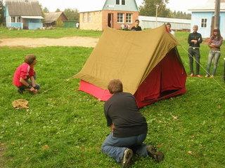 Как правильно собрать палатку